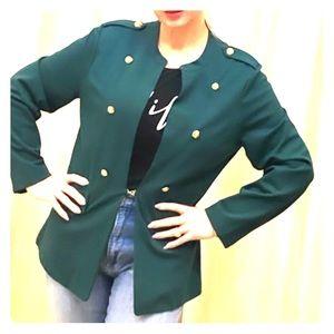 🆕 Listing! Emerald blazer w/ gold button details